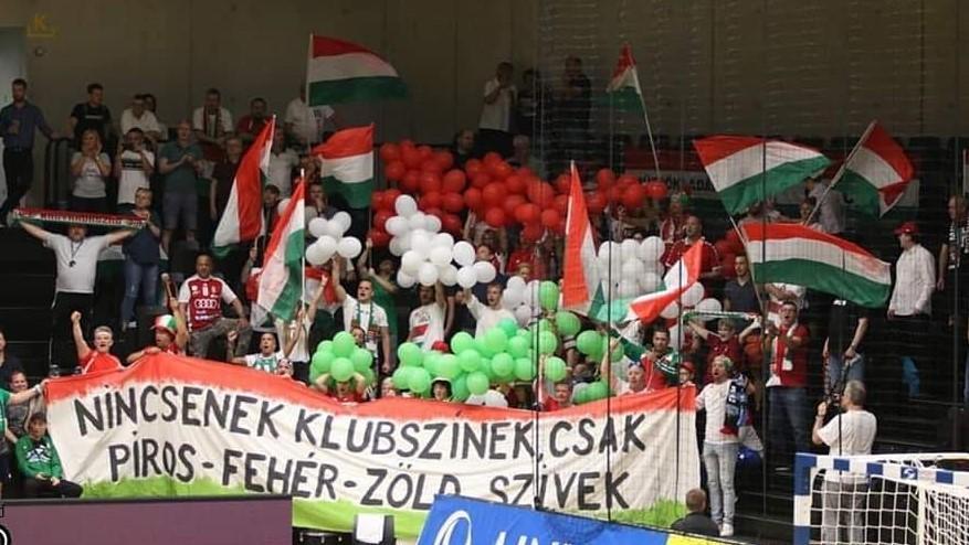A magyar szurkolók távolról is a csapat mellett