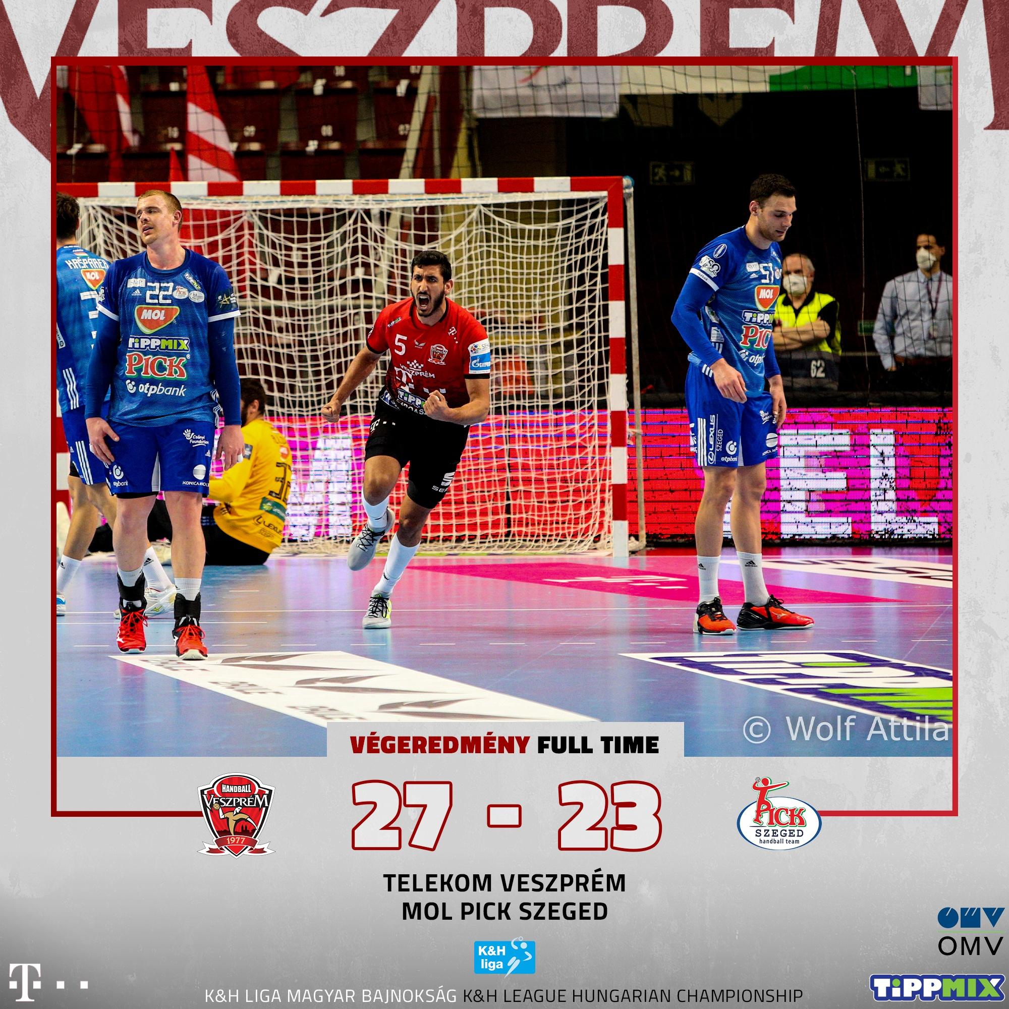 Telekom Veszprém – MOL-Pick Szeged 27-23