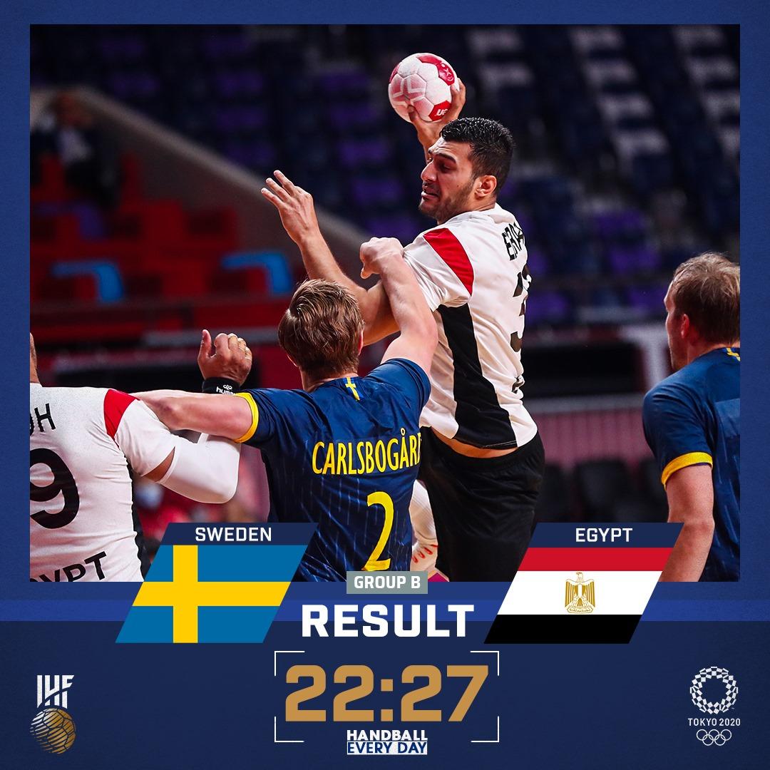 Egyiptom Rió után Tokióban is nyert a svédek ellen